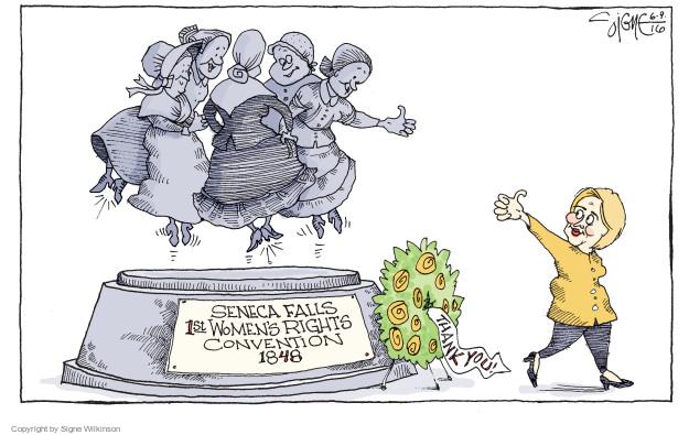 Signe Wilkinson  Signe Wilkinson's Editorial Cartoons 2016-06-09 2016 Election Hillary Clinton