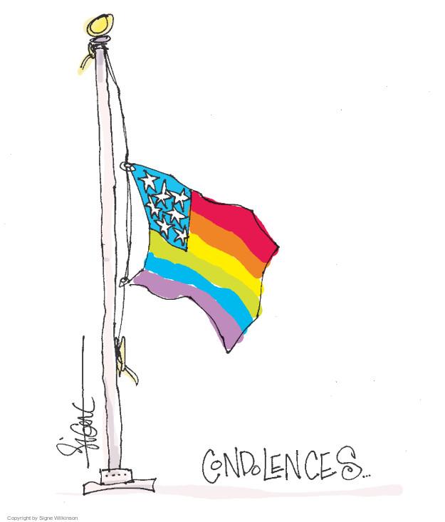 Cartoonist Signe Wilkinson  Signe Wilkinson's Editorial Cartoons 2016-06-13 gun massacre
