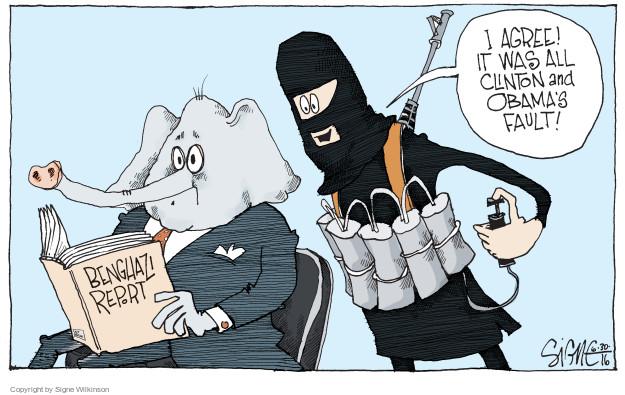 Cartoonist Signe Wilkinson  Signe Wilkinson's Editorial Cartoons 2016-06-30 Obama terrorism