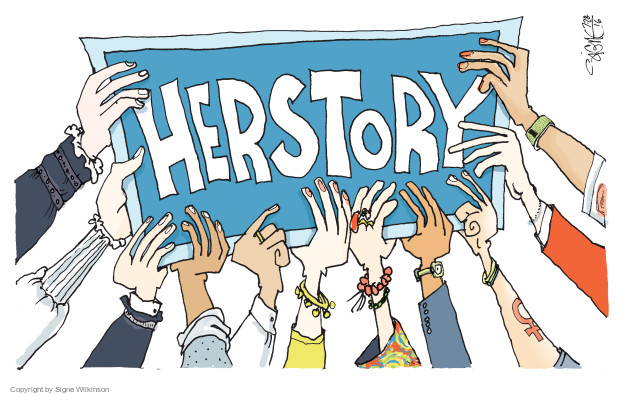 Signe Wilkinson  Signe Wilkinson's Editorial Cartoons 2016-07-28 women's history