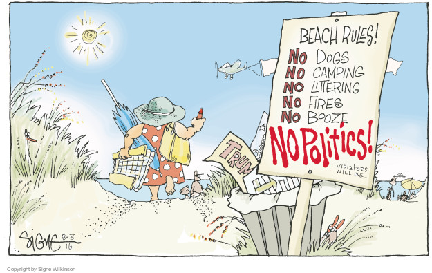 Signe Wilkinson  Signe Wilkinson's Editorial Cartoons 2016-08-03 Hillary Clinton and Bernie Sanders