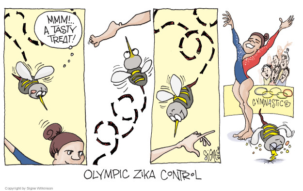 Cartoonist Signe Wilkinson  Signe Wilkinson's Editorial Cartoons 2016-08-10 athlete