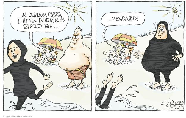 Cartoonist Signe Wilkinson  Signe Wilkinson's Editorial Cartoons 2016-08-26 civil liberty