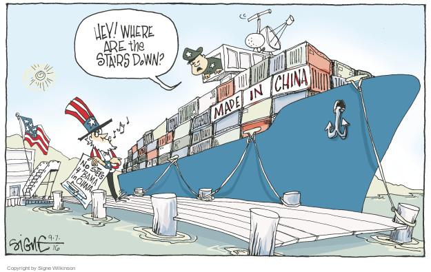 Cartoonist Signe Wilkinson  Signe Wilkinson's Editorial Cartoons 2016-09-07 chinese