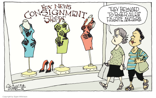 Cartoonist Signe Wilkinson  Signe Wilkinson's Editorial Cartoons 2016-09-08 gender discrimination