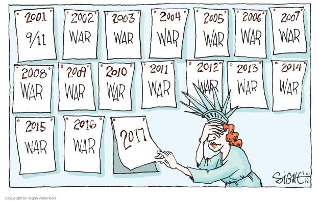 Cartoonist Signe Wilkinson  Signe Wilkinson's Editorial Cartoons 2016-09-11 2004