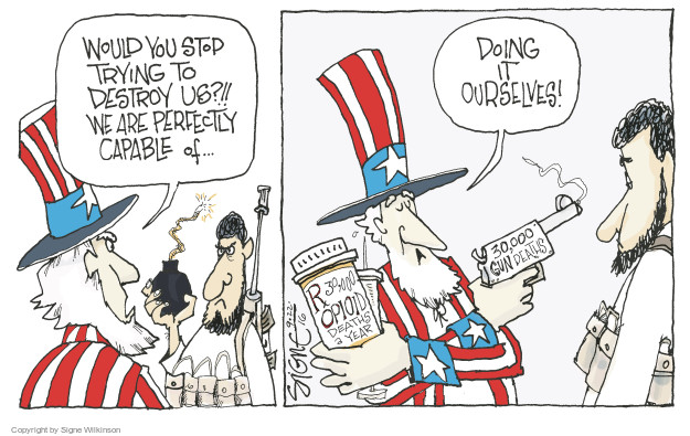 Cartoonist Signe Wilkinson  Signe Wilkinson's Editorial Cartoons 2016-09-22 editorial