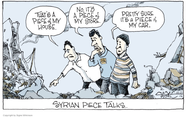Cartoonist Signe Wilkinson  Signe Wilkinson's Editorial Cartoons 2016-10-11 rubble