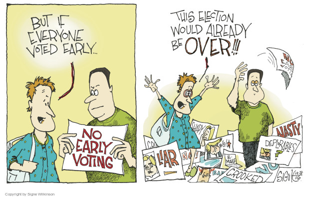Signe Wilkinson  Signe Wilkinson's Editorial Cartoons 2016-10-23 voting rights