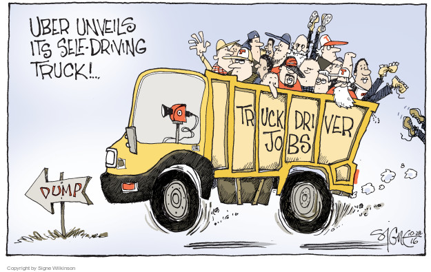 Cartoonist Signe Wilkinson  Signe Wilkinson's Editorial Cartoons 2016-10-28 transportation