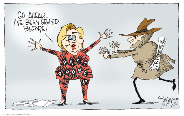 Signe Wilkinson  Signe Wilkinson's Editorial Cartoons 2016-10-29 2016 Election Hillary Clinton