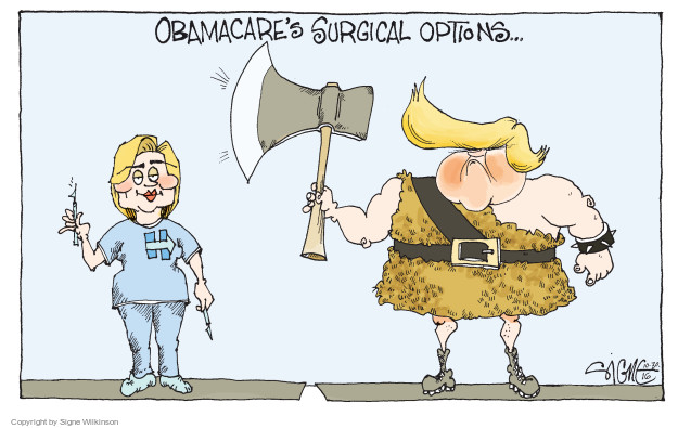 Signe Wilkinson  Signe Wilkinson's Editorial Cartoons 2016-10-30 2016 Election Hillary Clinton