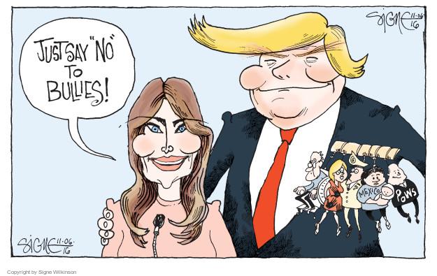 Cartoonist Signe Wilkinson  Signe Wilkinson's Editorial Cartoons 2016-11-06 cyber bully