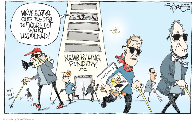 Signe Wilkinson  Signe Wilkinson's Editorial Cartoons 2016-11-11 journalist