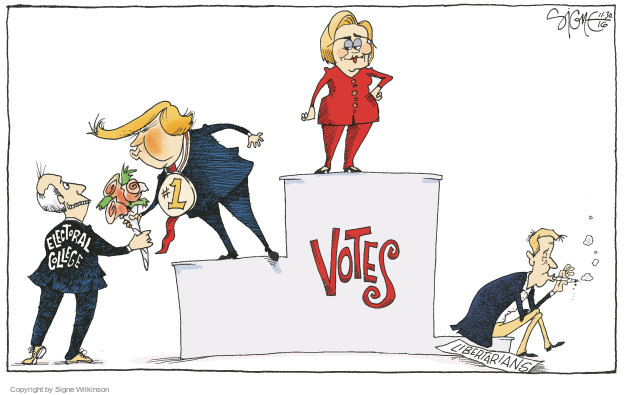 Signe Wilkinson  Signe Wilkinson's Editorial Cartoons 2016-11-30 2016 Election Hillary Clinton