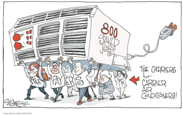Signe Wilkinson  Signe Wilkinson's Editorial Cartoons 2016-12-09 economic