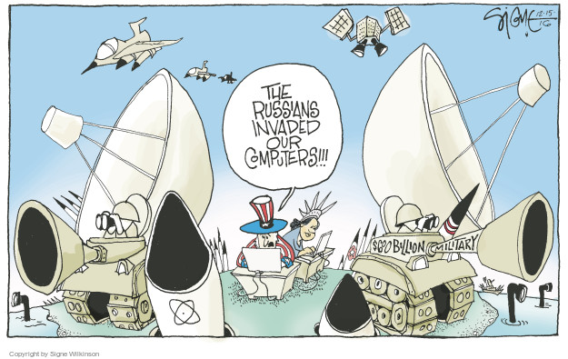 Cartoonist Signe Wilkinson  Signe Wilkinson's Editorial Cartoons 2016-12-16 armed forces