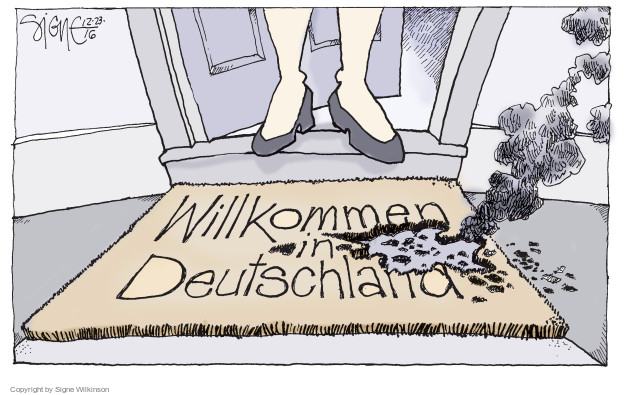 Signe Wilkinson  Signe Wilkinson's Editorial Cartoons 2016-12-23 immigration