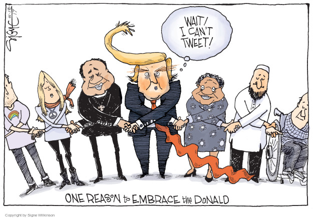 Cartoonist Signe Wilkinson  Signe Wilkinson's Editorial Cartoons 2017-01-18 disability