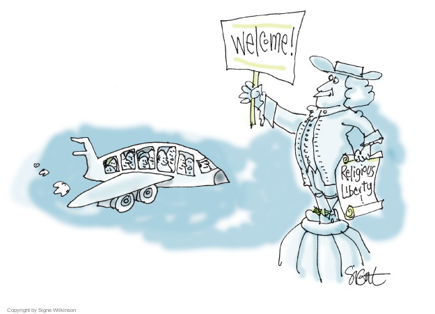 Signe Wilkinson  Signe Wilkinson's Editorial Cartoons 2017-01-29 immigration