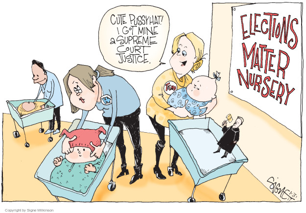 Signe Wilkinson  Signe Wilkinson's Editorial Cartoons 2017-02-03 2016 Election Hillary Clinton