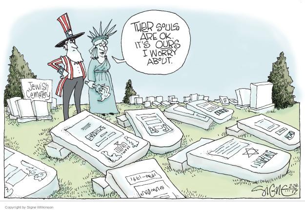 Signe Wilkinson  Signe Wilkinson's Editorial Cartoons 2017-02-28 Jewish