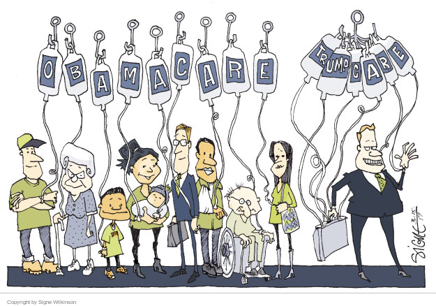 Cartoonist Signe Wilkinson  Signe Wilkinson's Editorial Cartoons 2017-03-14 patient