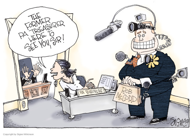 Cartoonist Signe Wilkinson  Signe Wilkinson's Editorial Cartoons 2017-03-22 state election