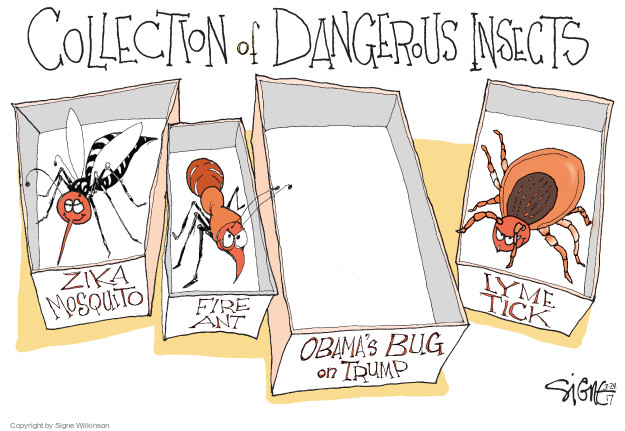 Cartoonist Signe Wilkinson  Signe Wilkinson's Editorial Cartoons 2017-03-24 Zika virus