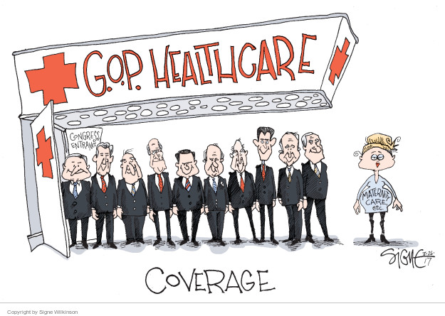 Cartoonist Signe Wilkinson  Signe Wilkinson's Editorial Cartoons 2017-03-26 affordable care act