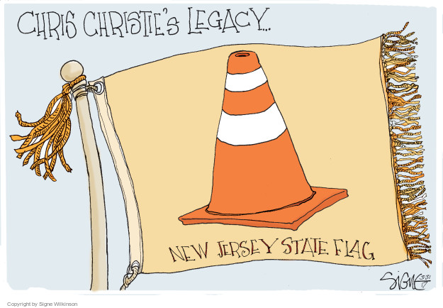 Chris Christies Legacy … New Jersey State Flag.