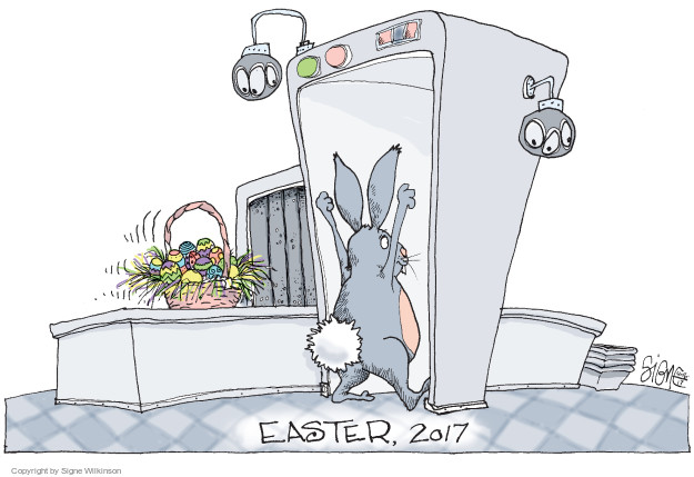 Cartoonist Signe Wilkinson  Signe Wilkinson's Editorial Cartoons 2017-04-16 airport security