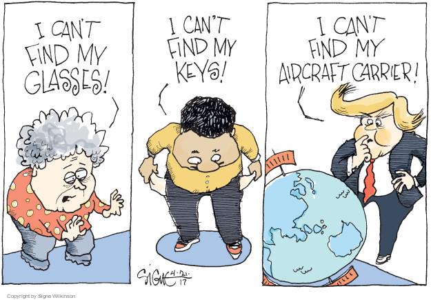 Cartoonist Signe Wilkinson  Signe Wilkinson's Editorial Cartoons 2017-04-22 military leadership