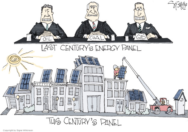 Oil. Coal. Gas. Last Centurys Energy Panel. This Centurys Panel.