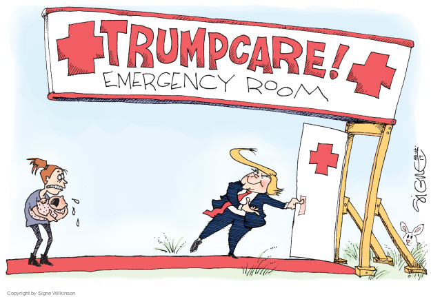 Cartoonist Signe Wilkinson  Signe Wilkinson's Editorial Cartoons 2017-05-04 affordable care act