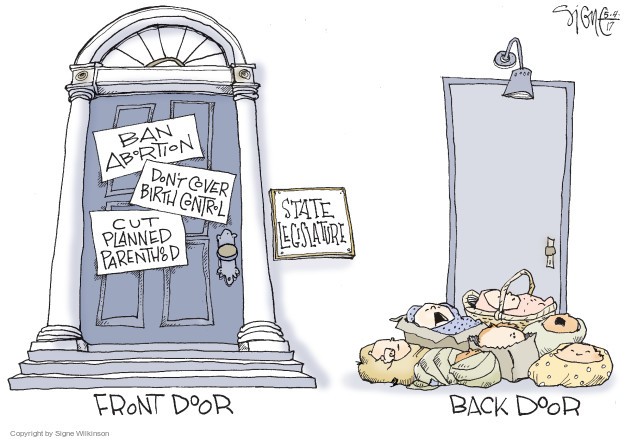 Cartoonist Signe Wilkinson  Signe Wilkinson's Editorial Cartoons 2017-05-05 health care
