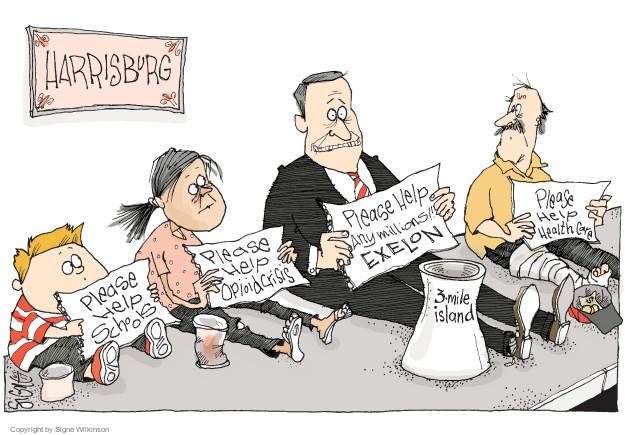 Cartoonist Signe Wilkinson  Signe Wilkinson's Editorial Cartoons 2017-06-01 nuclear power