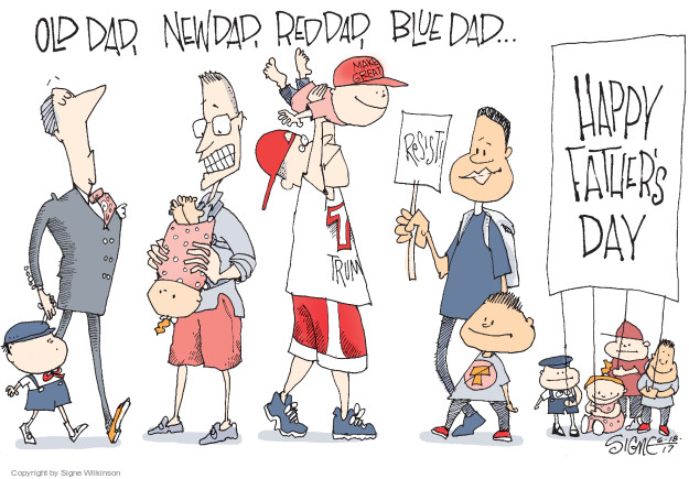 Old dad, new dad, red dad, blue dad … Happy Fathers Day. Resist! Trump.