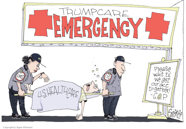 Cartoonist Signe Wilkinson  Signe Wilkinson's Editorial Cartoons 2017-06-29 health care plan