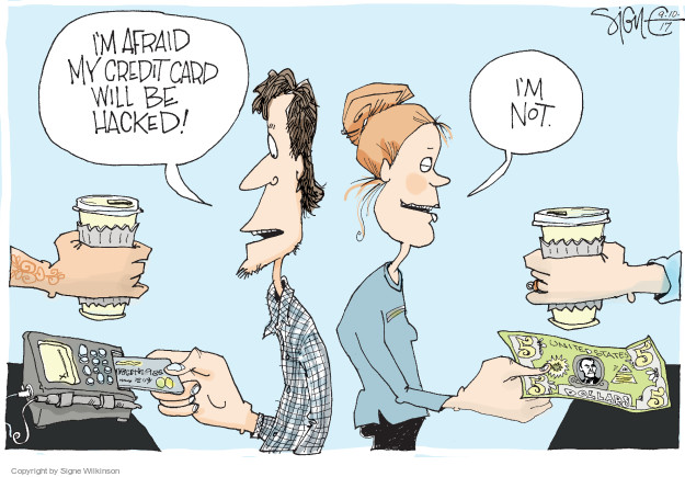 Cartoonist Signe Wilkinson  Signe Wilkinson's Editorial Cartoons 2017-09-10 finance