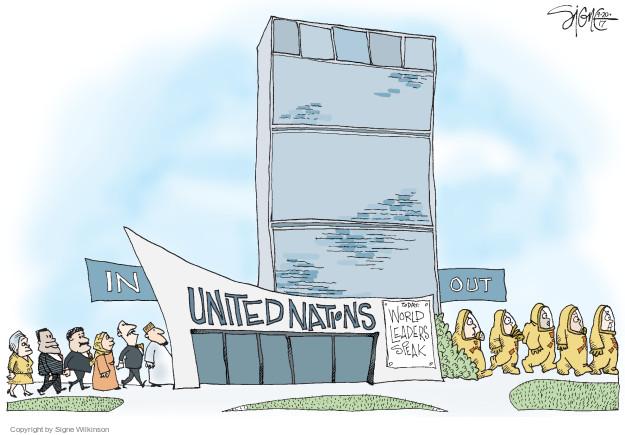 Signe Wilkinson  Signe Wilkinson's Editorial Cartoons 2017-09-20 political leader