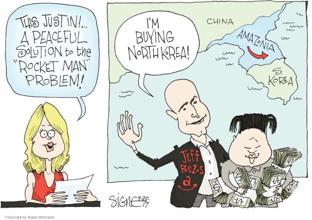 Signe Wilkinson  Signe Wilkinson's Editorial Cartoons 2017-09-25 political leader