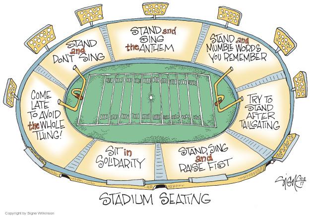 Cartoonist Signe Wilkinson  Signe Wilkinson's Editorial Cartoons 2017-10-08 NFL