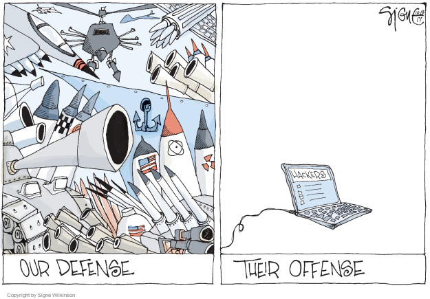 Signe Wilkinson  Signe Wilkinson's Editorial Cartoons 2017-10-18 weaponry