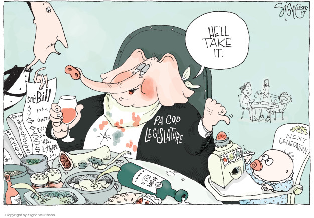 Signe Wilkinson  Signe Wilkinson's Editorial Cartoons 2017-10-27 deficit
