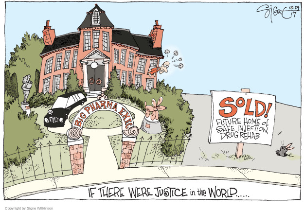 Cartoonist Signe Wilkinson  Signe Wilkinson's Editorial Cartoons 2017-10-29 profit