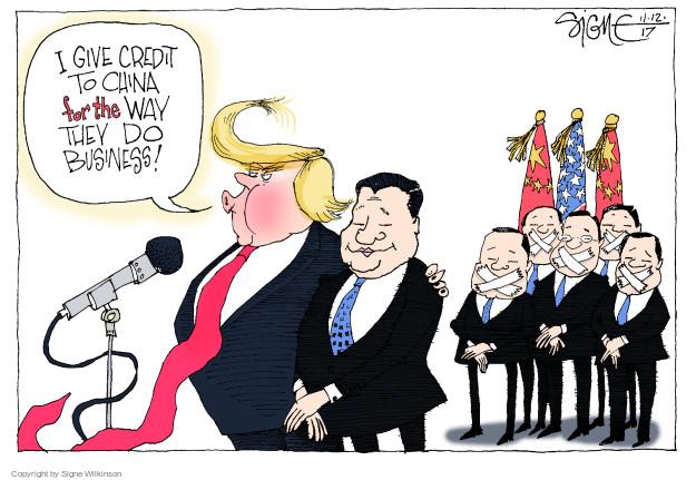 Signe Wilkinson  Signe Wilkinson's Editorial Cartoons 2017-11-12 China
