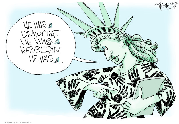 Cartoonist Signe Wilkinson  Signe Wilkinson's Editorial Cartoons 2017-11-19 sexual assault