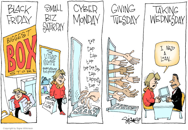 Cartoonist Signe Wilkinson  Signe Wilkinson's Editorial Cartoons 2017-11-29 Black Friday