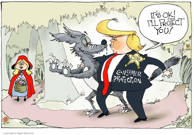 Cartoonist Signe Wilkinson  Signe Wilkinson's Editorial Cartoons 2017-12-01 wolf